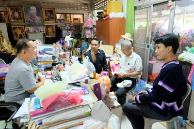 คณบดีคณะศิลปศาสตร์ เข้าพบคุณสมชาย ธนกุสุมาลย์ ประธานสภาวัฒนธรรมเขตป้อมปราบศัตรูพ่าย