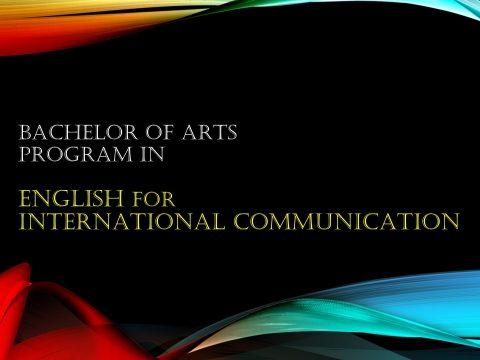 สาขาวิชาภาษาอังกฤษเพื่อการสื่อสารสากล / Bachelor of Arts Program in English for InternationalCommunication  - Click