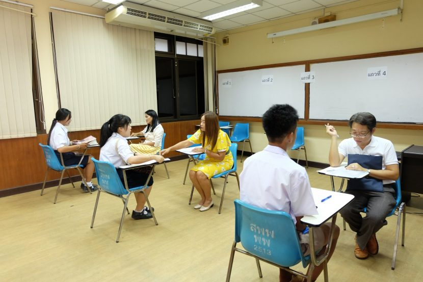 บรรยากาศการสอบสัมภาษณ์รอบ TCAS 3 รับตรงร่วมกัน ประจำปีการศึกษา 2562