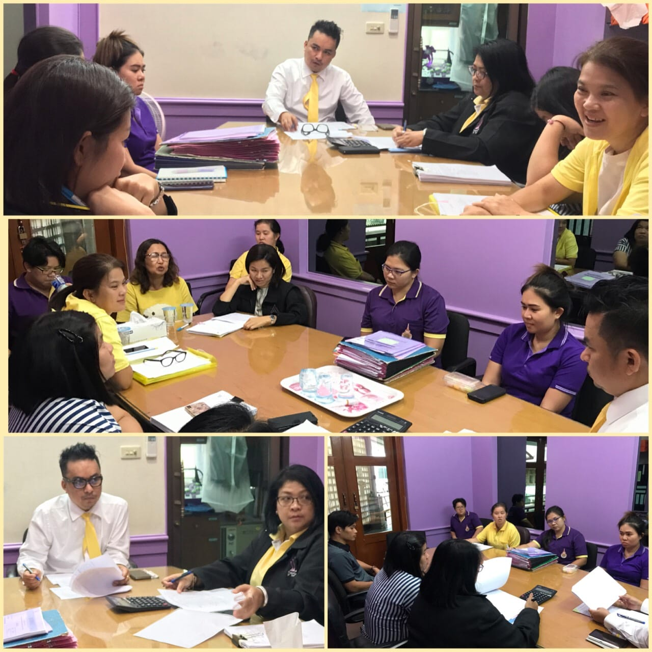 เมื่อวันที่ 15 พฤษภาคม 2562 ผู้บริหารคณะ ประชุมผู้มีส่วนเกี่ยวข้องกับการทำโครงการ เพื่อปรับปรุงวิธีการทำโครงการ และการเบิกจ่ายเงิน ให้มีความถูกต้อง และเป็นระบบที่ชัดเจน