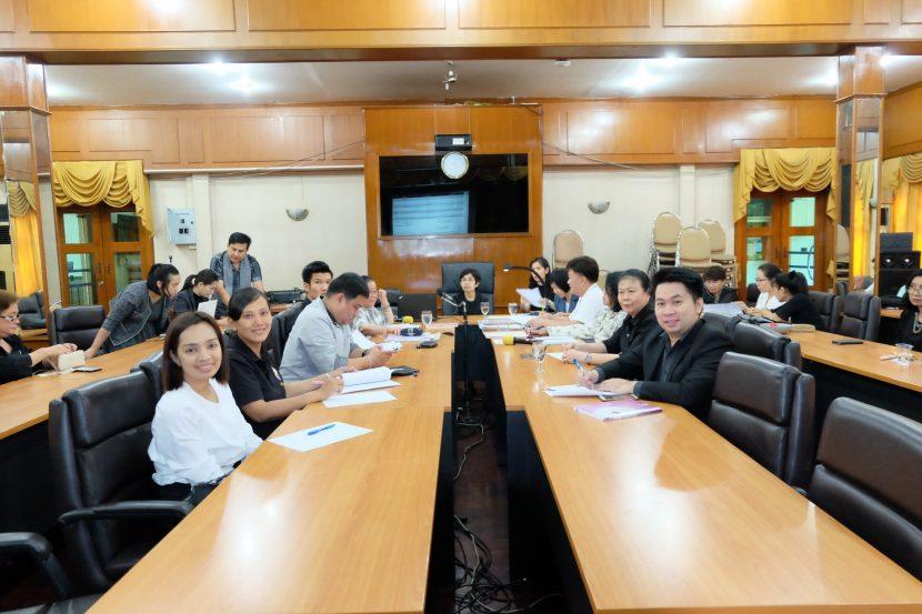 ประชุมเพื่อเตรียมความพร้อมซ้อมตรวจประเมินตนเอง (SAR) รอบ 12 เดือน ประจำปีการศึกษา 2561