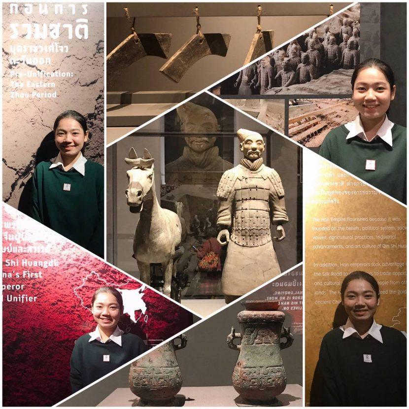นักศึกษาสาขาวิชาการท่องเที่ยว คณะศิลปศาสตร์ เข้าชมนิทรรศการพิเศษ เรื่อง จิ๋นซีฮ่องเต้